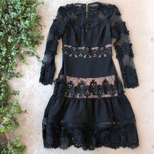 Bronx & Banco Tiered Lace Midi Dress